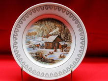Currier & Ives A Home in the Wilderness Plate by Roy Thomas