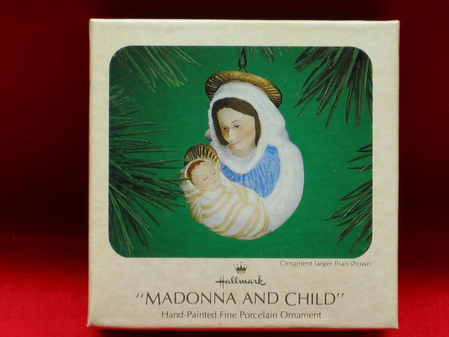 Hallmark Madonna and Child Ornament - 1983