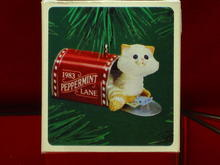 Hallmark Mailbox Kitten Ornament - 1983