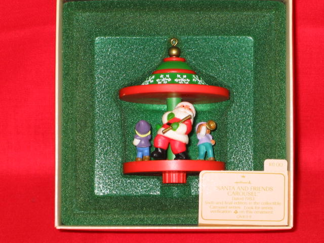 Hallmark Santa and Friends Carousel (#6) Ornament - 1983