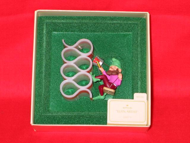 Hallmark Elfin Artist Ornament - 1982