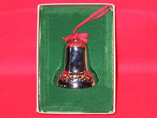 Hallmark Christmas Silver Bell Ornament - 1983