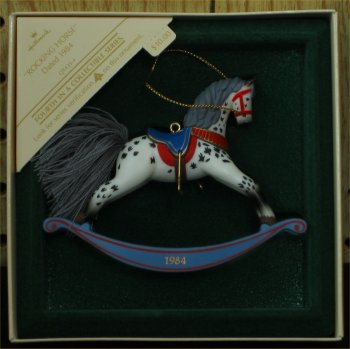 1984 Hallmark Rocking Horse #4 Ornament
