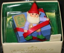 1984 Hallmark Gift of Music Ornament