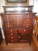 Antique Dental Cabinet Solid Mahogany