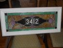Stained Glass Window House Number