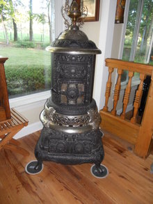 Antique Wood/Coal Parlor Stove
