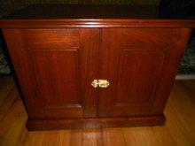 Walnut Spool Optician Cabinet