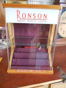Ronson Lighter Display Cabinet Tobacianna