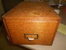Large Tiger Oak File Box