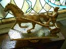 Sessions Race Horse Sulky Harness Race Clock Art Deco