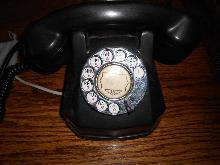 Vintate WORKING AE-40 Rotary Dial Phone in Black Bakelite