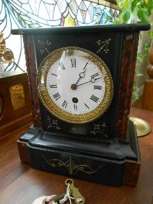 Victorian French Slate Mantle Clock