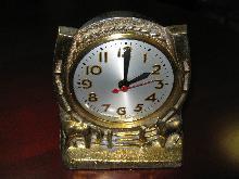 VINTAGE SESSIONS HORSESHOE  COWBOY WESTERN Table/Mantle CLOCK--WORKS