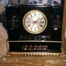 RARE VTG ART DECO SESSIONS PORCELAIN TABLE RADIO CLOCK