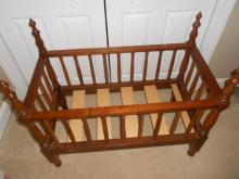 Sheraton Infant  Doll Cradle in Solid Cherry - Maine 1840