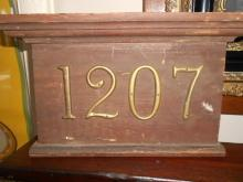 Architectural Element House Number Sign 1207