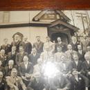 Oak Picture Frame with Original Black and White Photo EK Thomas Bible Class Scranton PA