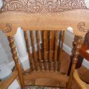 Tiger Oak Rocker 1895 Pressed Back and Spindles Complete Restoration