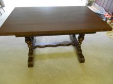 Antique Conference Library Table Dining Kitchen Table