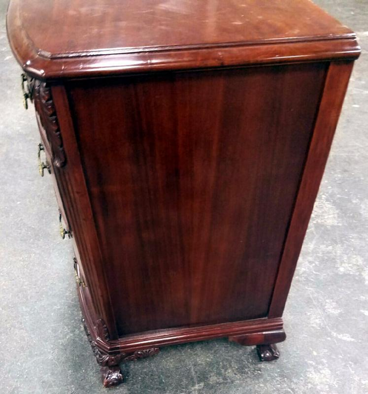 19538 Flame Mahogany 8 Drawer Dresser Ball and Claw Foot