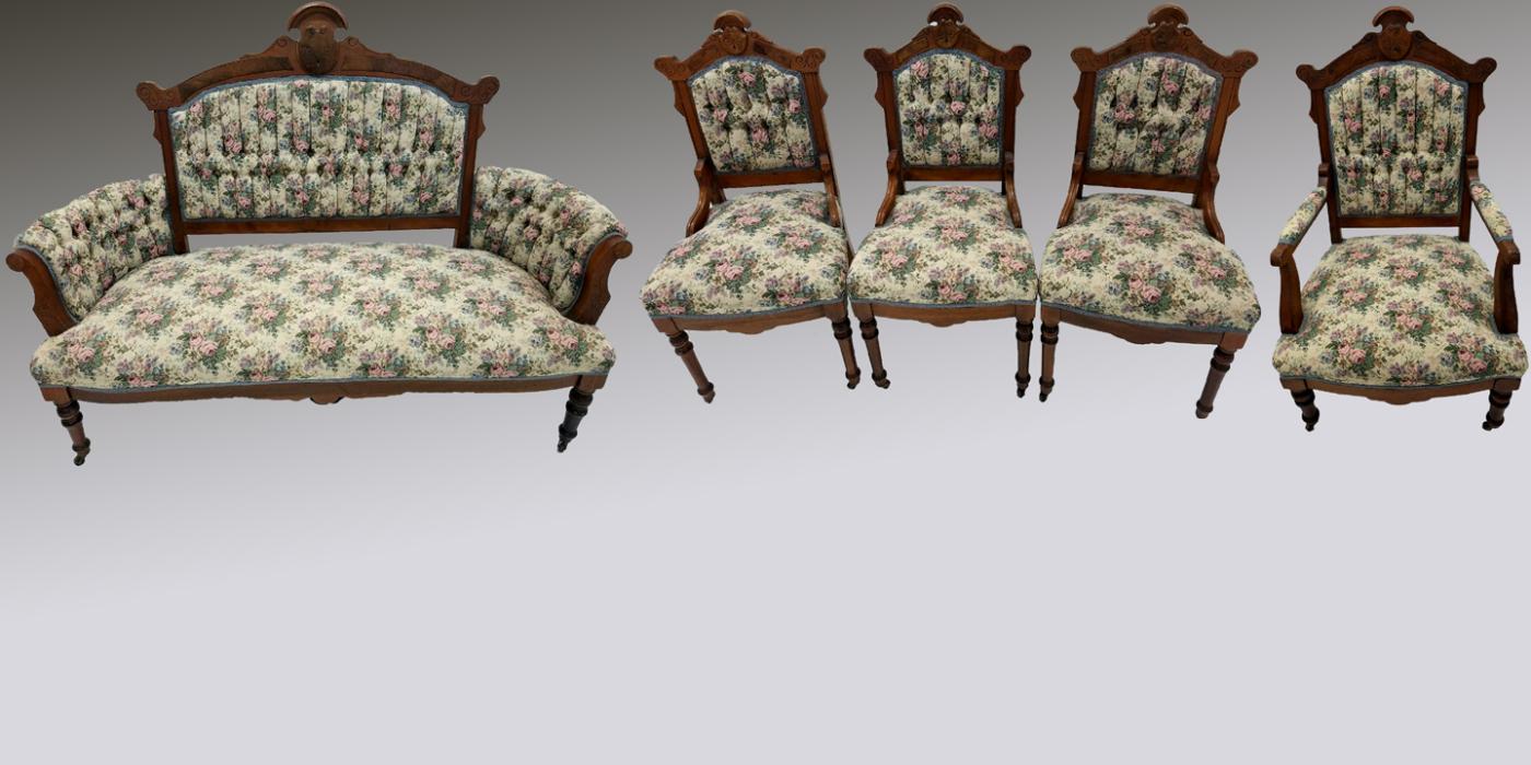 19532 Five Piece Victorian Parlor Set
