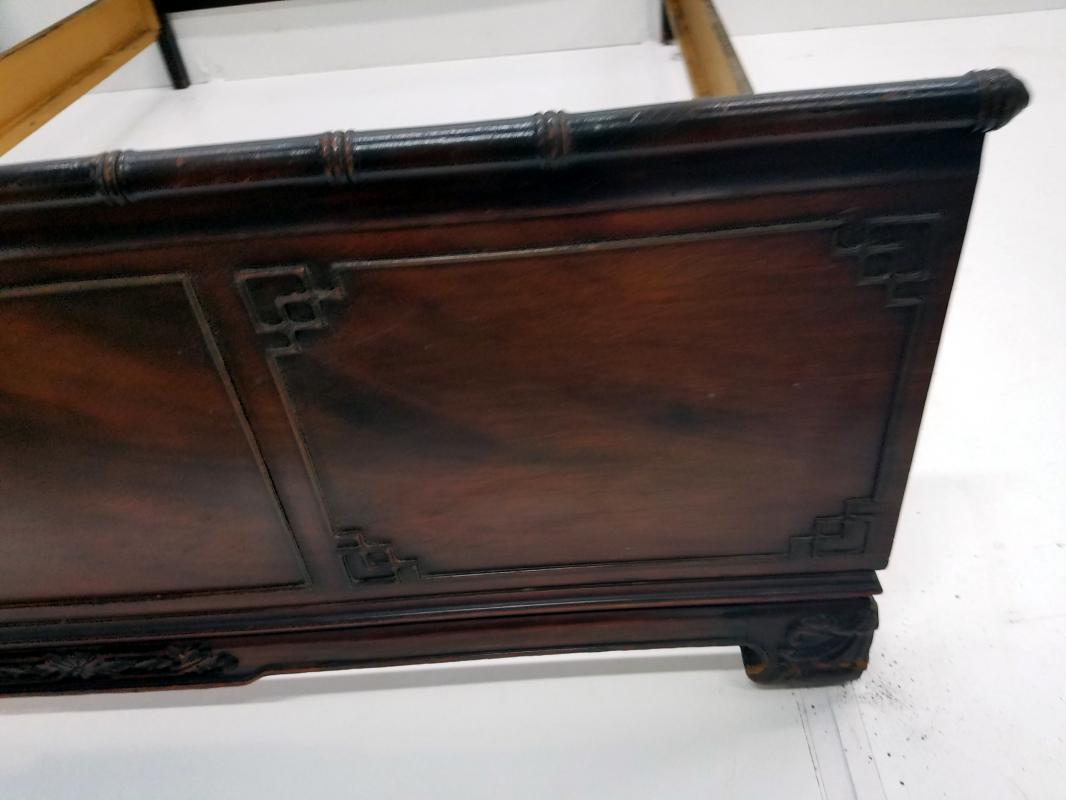 19528 Mahogany Carved Bed Full Size