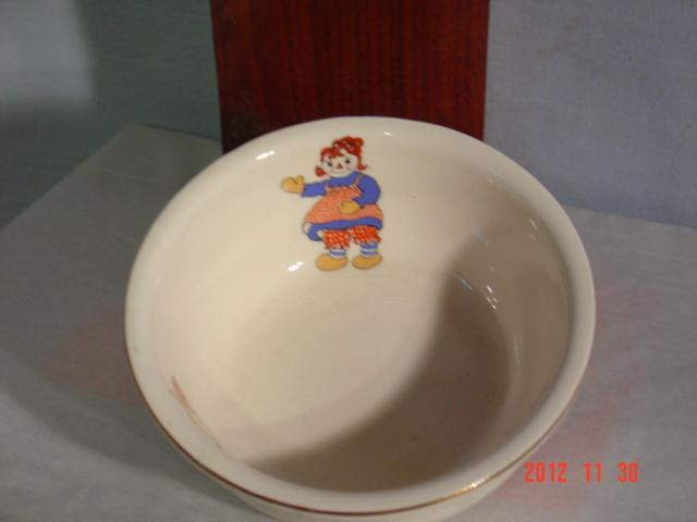 Raggedy Ann  Bowl, small, Crooksville Pottery