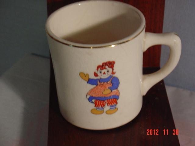 Raggedy Ann  Cup, Crooksville Pottery
