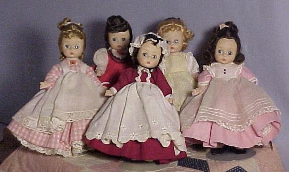 MA  AlexanderKins Little Women Set of 5 dolls