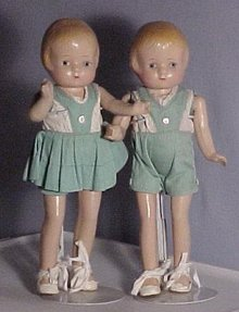 Patsy Twins, composition antique dolls