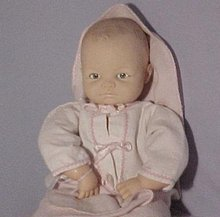Cameo Miss Peep Doll, 1950's, hinged limbs