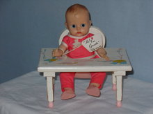 Ginnette Doll,1957, w/Wrist Tag & Feeding Table