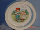 Buffalo Pottery Baby Feeding Dish, with Campbell Kids