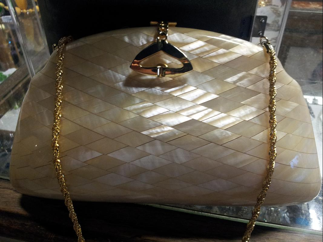 Vintage Italian Made Lucite Purse