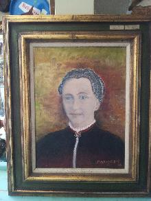 Folk Art Lady Mundelien Painting