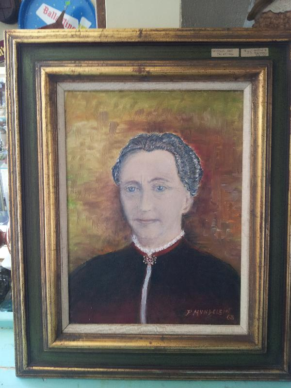 Folk Art Lady Mundelien Painting