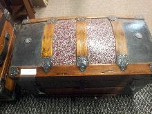 1800's Travel Humpback Trunk