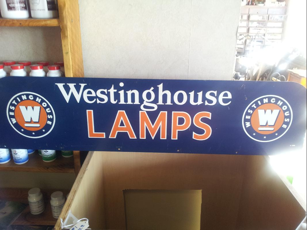 Westinghouse Lamps MINT DOUBLE SIDED Sign