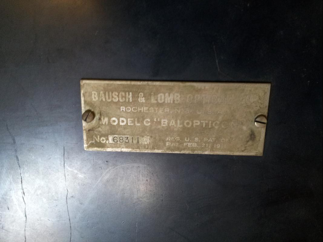Bausch and Lomb Balopticon Type C Projector w/ Case