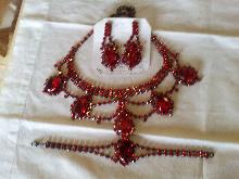 Red Glass 3 piece set