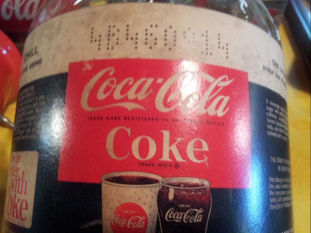Coca Cola Service Syrup Bottle