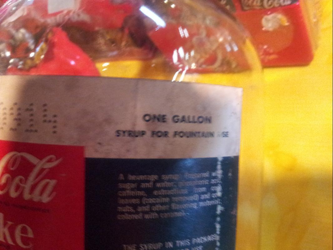 Coca Cola Service Syrup Bottle