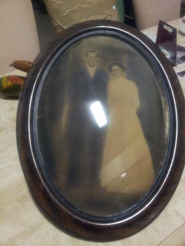 Antique Picture Frame with photo