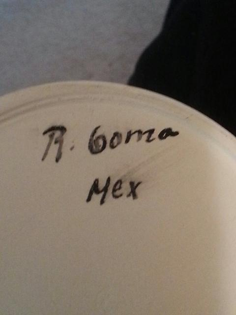 R Gonza Mex signed pieces set of 3