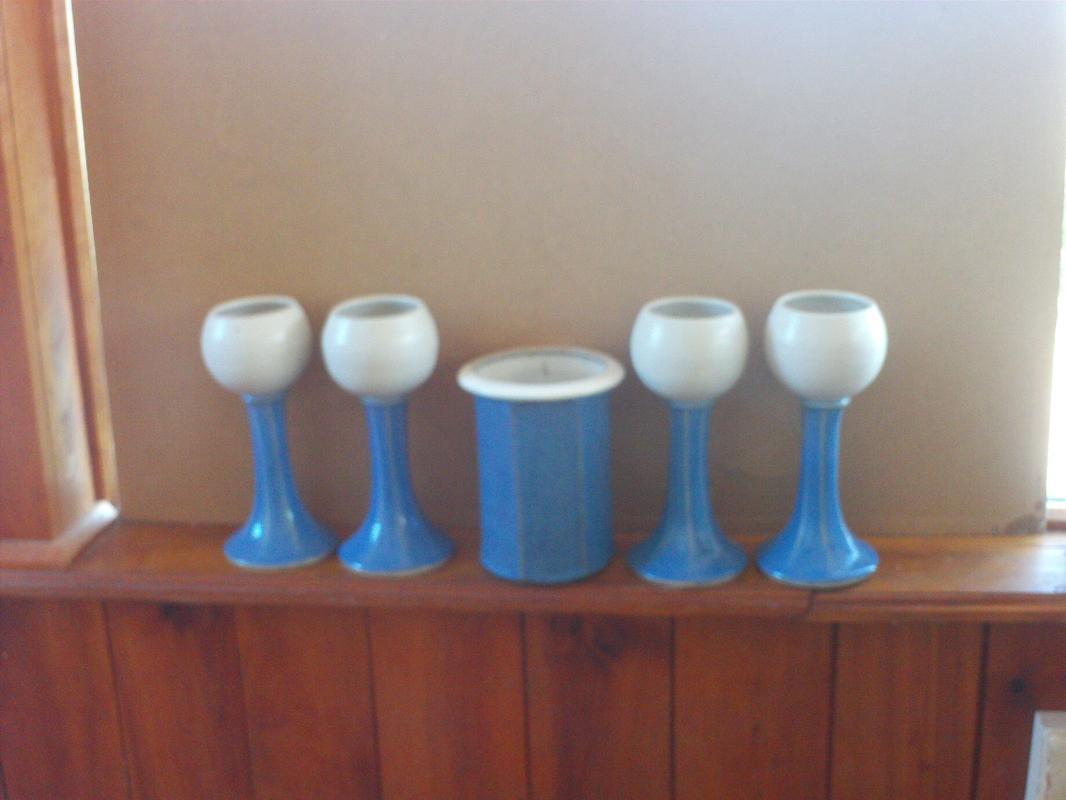 Wine Cooler & 4 Goblets