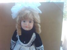 18 inch blonde porcelain doll