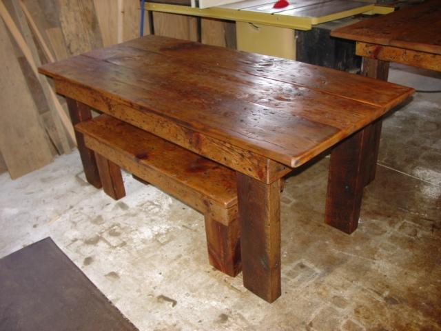 RUSTIC COUNTRY PRIMITIVE 7 FOOT FARMHOUSE HARVEST TABLE