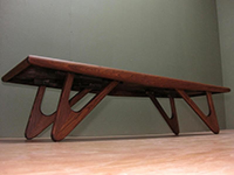 Eames Era Mid Century Style Danish Modern Boomarang Leg Coffee Table