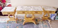 Victorain Marble Table Ornate